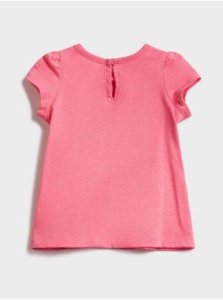 Růžové holčičí baby šaty GAP Logo v-g drs