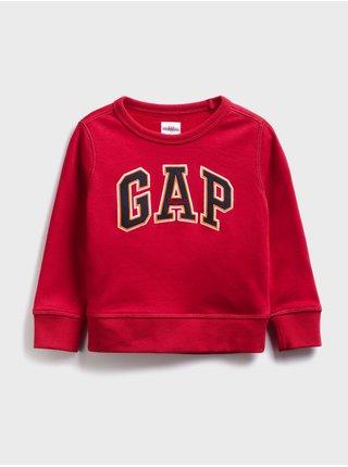 Červená klučičí dětská mikina GAP Logo fr ft crew