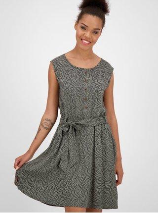 Khaki vzorované šaty se zavazováním Alife and Kickin