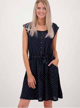 Tmavě modré vzorované šaty se zavazováním Alife and Kickin