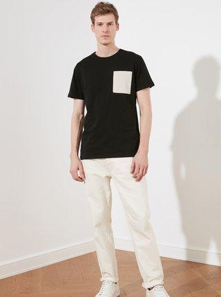 Černé pánské tričko Trendyol