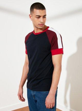 Tmavomodré pánske tričko Trendyol