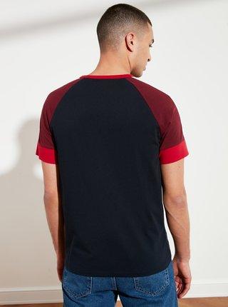 Tmavě modré pánské tričko Trendyol