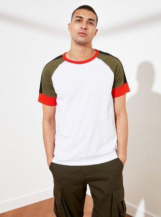 Bílé pánské tričko Trendyol