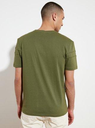 Zelené pánské tričko Trendyol