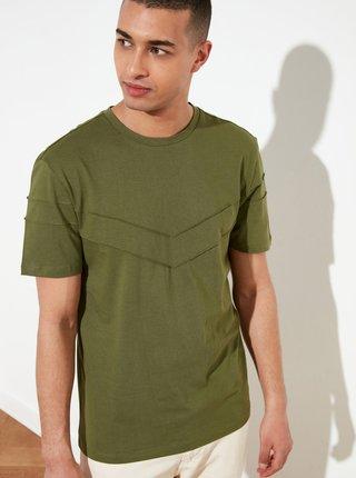 Zelené pánske tričko Trendyol