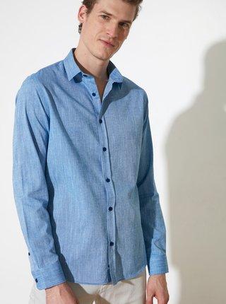 Modrá pánska košeľa Trendyol