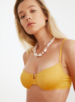 Žltý horný diel plaviek Trendyol