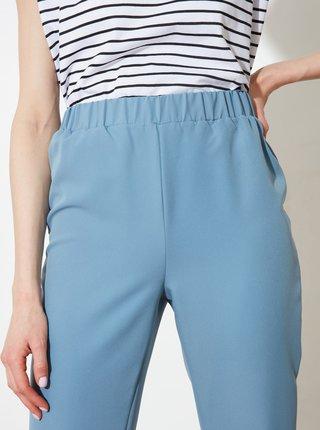 Světle modré dámské zkrácené kalhoty Trendyol
