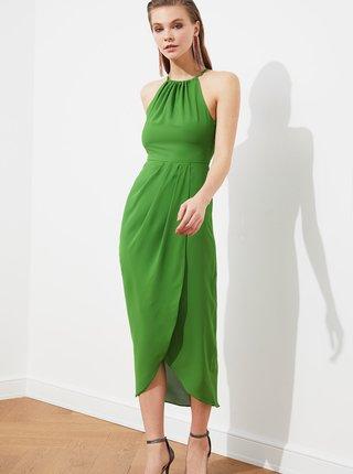 Zelené midišaty Trendyol