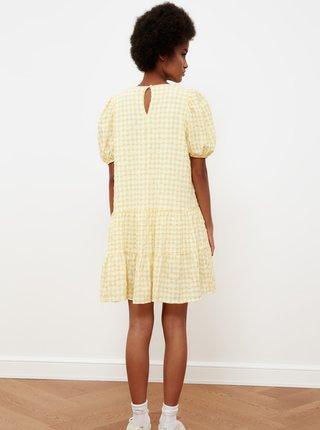 Žlté kokované voľné šaty Trendyol