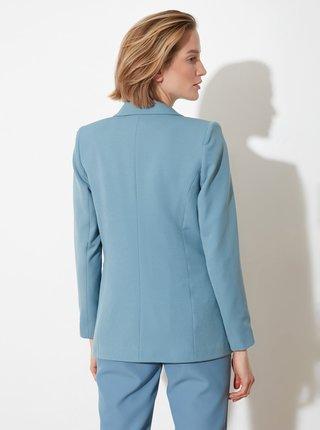 Světle modré dámské sako Trendyol