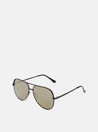 Ichi černé metalické sluneční brýle Iacansa