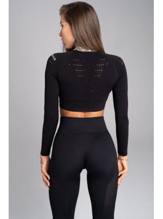 Crop-Top Gym Glamour All Black