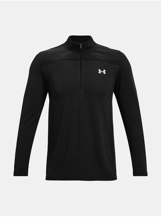 Tričko Under Armour UA Seamless 1/2 Zip-BLK