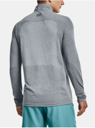 Tričko Under Armour UA Seamless 1/2 Zip-GRY