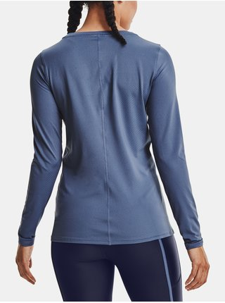 Tričko Under Armour UA HG Armour Long Sleeve - modrá