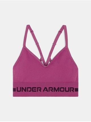Podprsenka Under Armour Seamless Low Long Bra - růžová
