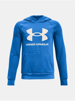 Mikina Under Armour RIVAL FLEECE HOODIE - modrá