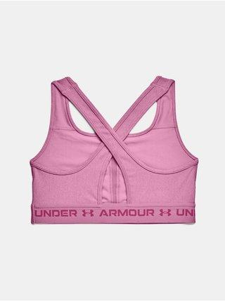 Podprsenka Under Armour UA Crossback Mid Heather Bra - růžová