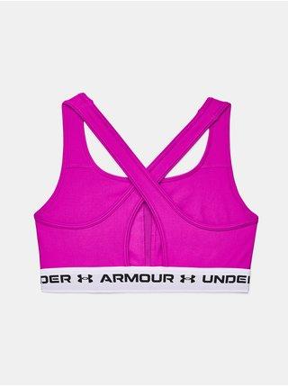 Podprsenka Under Armour UA Crossback Mid Bra - růžová