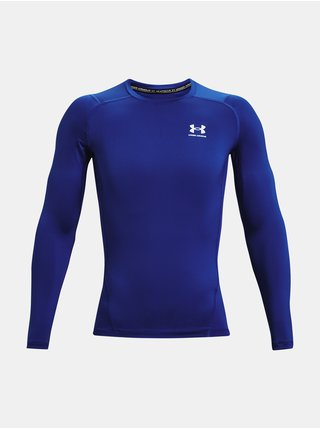 Tričko Under Armour UA HG Armour Comp LS - modrá