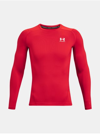 Tričko Under Armour UA HG Armour Comp LS - červená