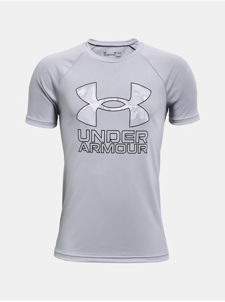 Tričko Under Armour Tech Hybrid Prt Fill SS - šedá