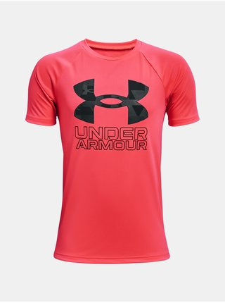 Tričko Under Armour UA Tech Hybrid Prt Fill SS - červená