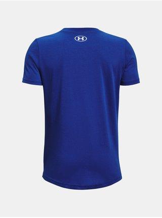Tričko Under Armour Sportstyle Logo SS - modrá