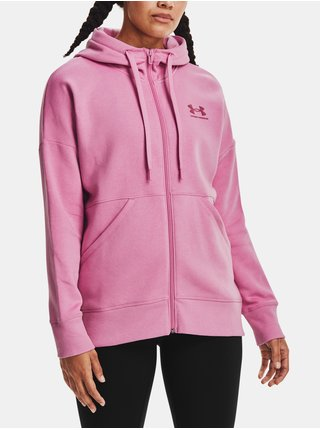 Mikina Under Armour Rival Fleece FZ Hoodie - růžová