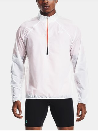 Bunda Under Armour UA Impasse Flow 1/2 Zip - bílá