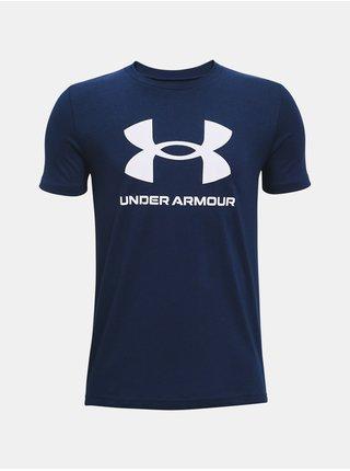 Tričko Under Armour Sportstyle Logo SS - tmavě modrá