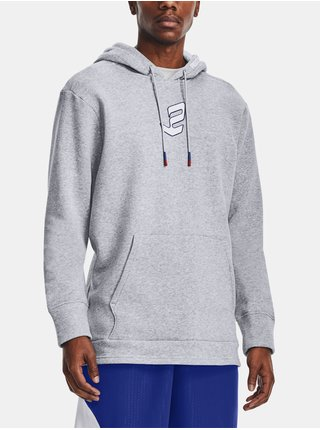 Mikina Under Armour UA EMBIID SIGNATURE HOODY - šedá