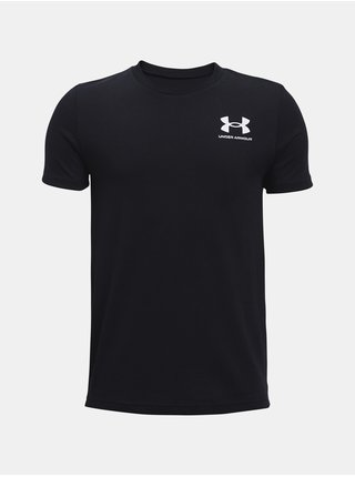 Tričko Under Armour Sportstyle Left Chest SS - černá