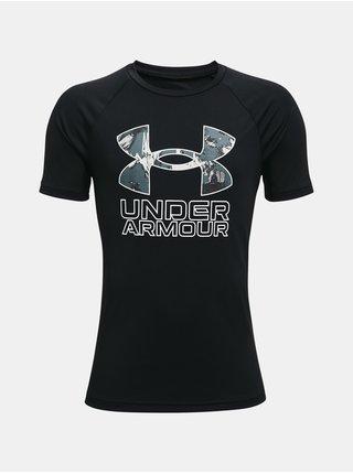Tričko Under Armour UA Tech Hybrid Prt Fill SS - černá