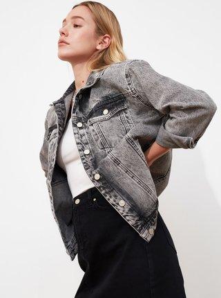 Šedá dámská džínová bunda Trendyol