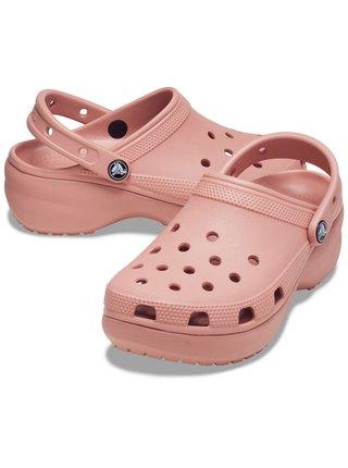 Crocs pudrové boty Classic Platform Clog W Pale Blush
