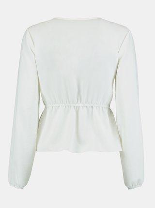 Biela blúzka s krajkovým lemom Hailys