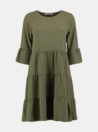 Khaki volné šaty Hailys