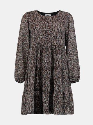 Černé květované šaty Hailys