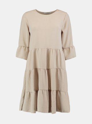 Béžové voľné šaty Hailys