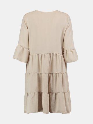 Béžové volné šaty Hailys
