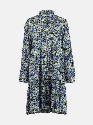 Modré květované košilové šaty Hailys