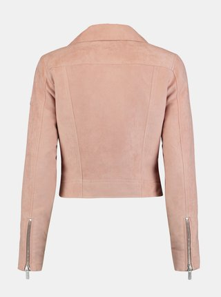 Ružová krátka bunda v semišovej úprave Zabaione