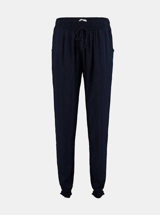 Tmavě modré kalhoty se zavazováním Hailys