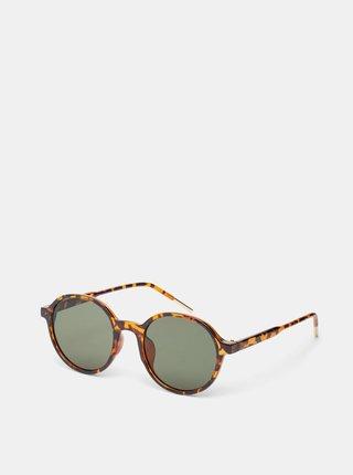 Hnědé vzorované sluneční brýle .OBJECT Elin
