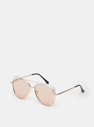 Slnečné okuliare v zlatej farbe .OBJECT Ella