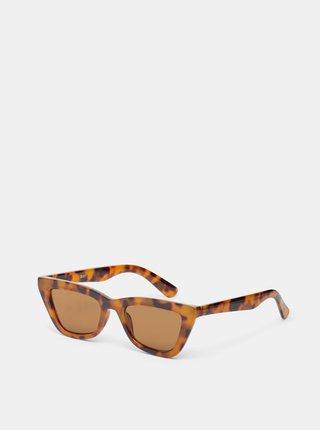 Hnědé vzorované sluneční brýle .OBJECT Emilie