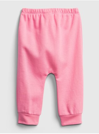Růžové holčičí baby tepláky GAP Logo brannan bear pull-on pants